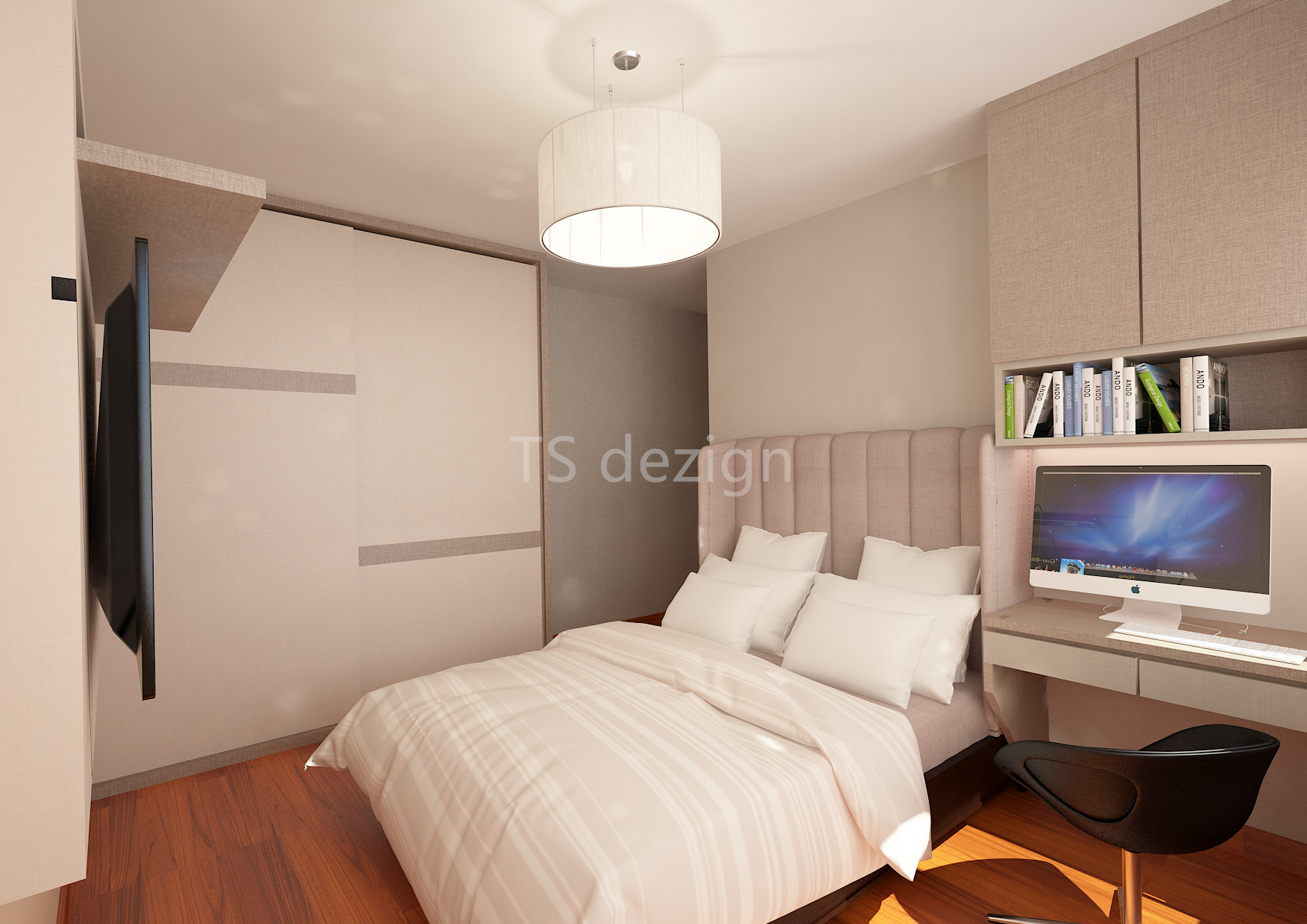 Ts dezign anchorvale cove hdb bto 4 room for Bedroom ideas hdb